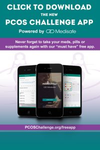 PCOS Challenge Mobile App Powered by Medisafe