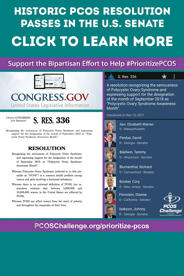 Historic PCOS Resolution Introduced in Congress